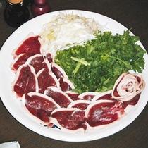 *お夕食一例(鴨鍋)/新鮮な鴨肉をたっぷりのお野菜と食す幸せ鍋。