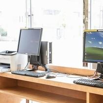 1Fフトロント横のビジネスコーナー(PC,プリンター)