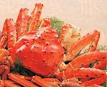 たらば蟹・・・捕ったばかりの、生きたままのたらばをゆで、最高の状態で召し上がっていただいております。