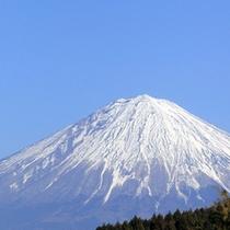 *コースから眺める富士山
