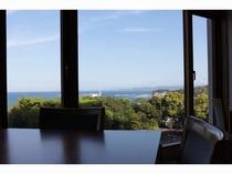レストランスピアージアからの眺め