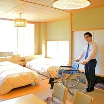 *【特別室(バリアフリー)】安心してご宿泊頂く為に作ったお部屋で、車椅子のままお過ごし頂けます