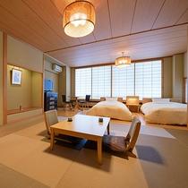 和洋室(客室一例)/和と洋、両方の良さを味わえるお部屋でごゆっくりお寛ぎ下さい。