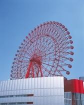 ヘップファイブ観覧車♪屋上にはビル一体型の真っ赤な観覧車あり大阪街並み絶景スポット!