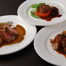 ■メインの肉料理3種 一例
