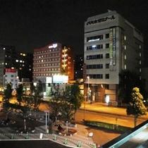 高崎駅東口方面から見たホテル②