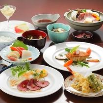 *ディナー/和洋折衷コース。和食と洋食のいいとこドリができるのはこちらのコースだけ♪