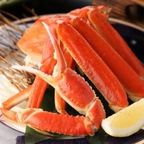 カニ会席:旬味 茹でズワイ蟹半身
