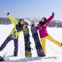 【ゲレンデが目の前】蔵王温泉スキー場横倉ゲレンデの目の前!蔵王ロープウェイで樹氷観賞も便利!