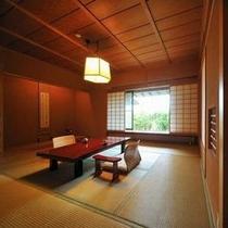 【客室Dタイプ一例「椿」】 和の情緒溢れるお部屋。開放的な気分でご滞在いただけます。
