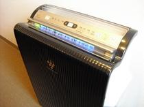 タバコの臭い、花粉対策に!加湿機能付プラズマクラスター空気清浄機、全室完備!