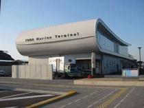 新しく出来た定期船乗り場 マリンターミナルです