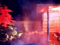 庭園露天風呂・紅葉夜景