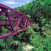 山中温泉観光名所【あやとり橋】   当館から徒歩約10分