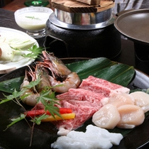 「常陸牛 陶板焼き」(料理一例)