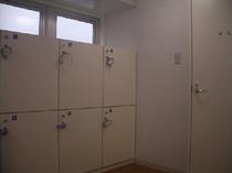 大浴場のロッカールーム