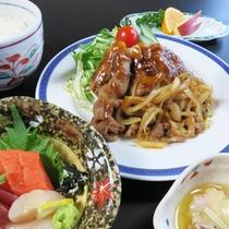 *【夕食一例/ビジネス膳(肉料理)】ガッツリ食べて、仕事の疲れをリフレッシュ!