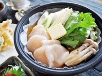 【(魚介御膳)夕食一例】ぷりっぷりのホタテをお召し上がりください。