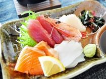 【(魚介御膳)夕食一例】お刺身