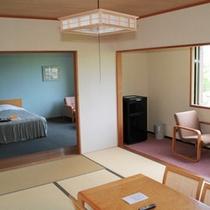 *【部屋/特別和洋室(53㎡)】最上階6階にあるお部屋です。喧騒を離れ、のどかにお過ごし下さい。
