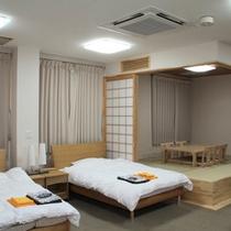*【部屋/バリアフリー和洋室(65㎡)】1階レストランのすぐそばにあり、電動ベッドもございます。