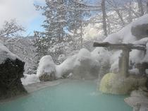 露天風呂 冬晴れ
