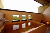 和洋の木造り風呂