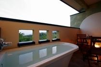 ツインタイプのテラスの露天風呂