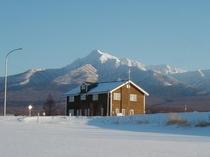 斜里岳と宿冬