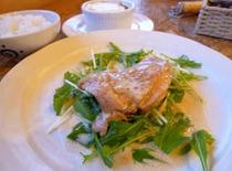 夕食一例 鶏肉の生クリーム煮込み