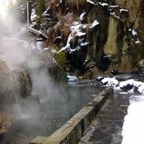 四季(とき)の湯温泉『混浴露天風呂(水着着用)』(雪見)