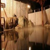 四季(とき)の湯温泉『露天風呂』(夜景)