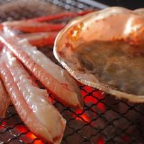 【冬】料理一例 蟹の炭火焼き