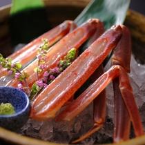 【冬】料理一例 間人蟹の蟹刺し