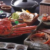 【冬のご夕食】冬の日本海といえば蟹。「幻の蟹」、間人蟹の肉質と鮮度をお楽しみください