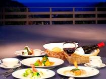 オーシャンテラスレストラン フレンチフルコース一例
