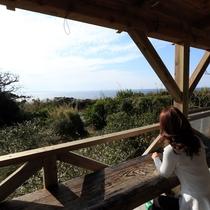 【デッキからの眺め】のんびり島時間を楽しんでください。