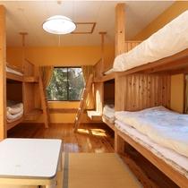 【ウッドハウス】別館のウッドハウスはグループに最適のお部屋です。