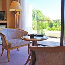 お部屋からの眺めは自然いっぱいの景色が広がります。。