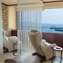 新OPEN【ソラフネ】和歌の浦の海景色を眺めながら無料のマッサージチェアが楽しめます。