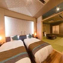 新OPEN♪■【海の座】露天風呂付客室 504号室■ ベッドルーム