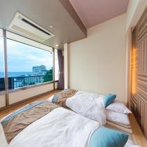 新OPEN♪■【海の座】露天風呂付客室 502号室■ 寝室