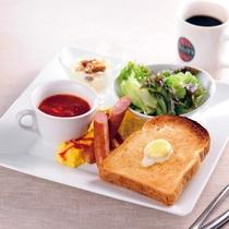 朝食:トーストプレート