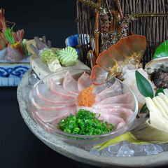 【お食事充実 海の幸を堪能】 薄作りや伊勢海老、鮑 お造り充実 露天付離れ和食コースSプラン(PS)