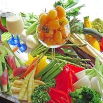 【夕食ブッフェ】東川町近郊から届いた採りたて野菜
