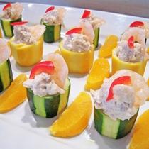 【夕食ブッフェ】ズッキーニ 緑と黄のファルス