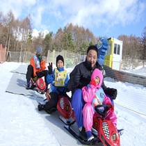 家族みんなでスノーレーサー
