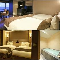 リニューアル客室/高層階/コンフォート/4ベッド/バス付