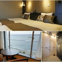 リニューアル客室/高層階ツイン/34平米/シャワーブース