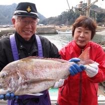 漁師の西口船長さんと女将のコラボが実現